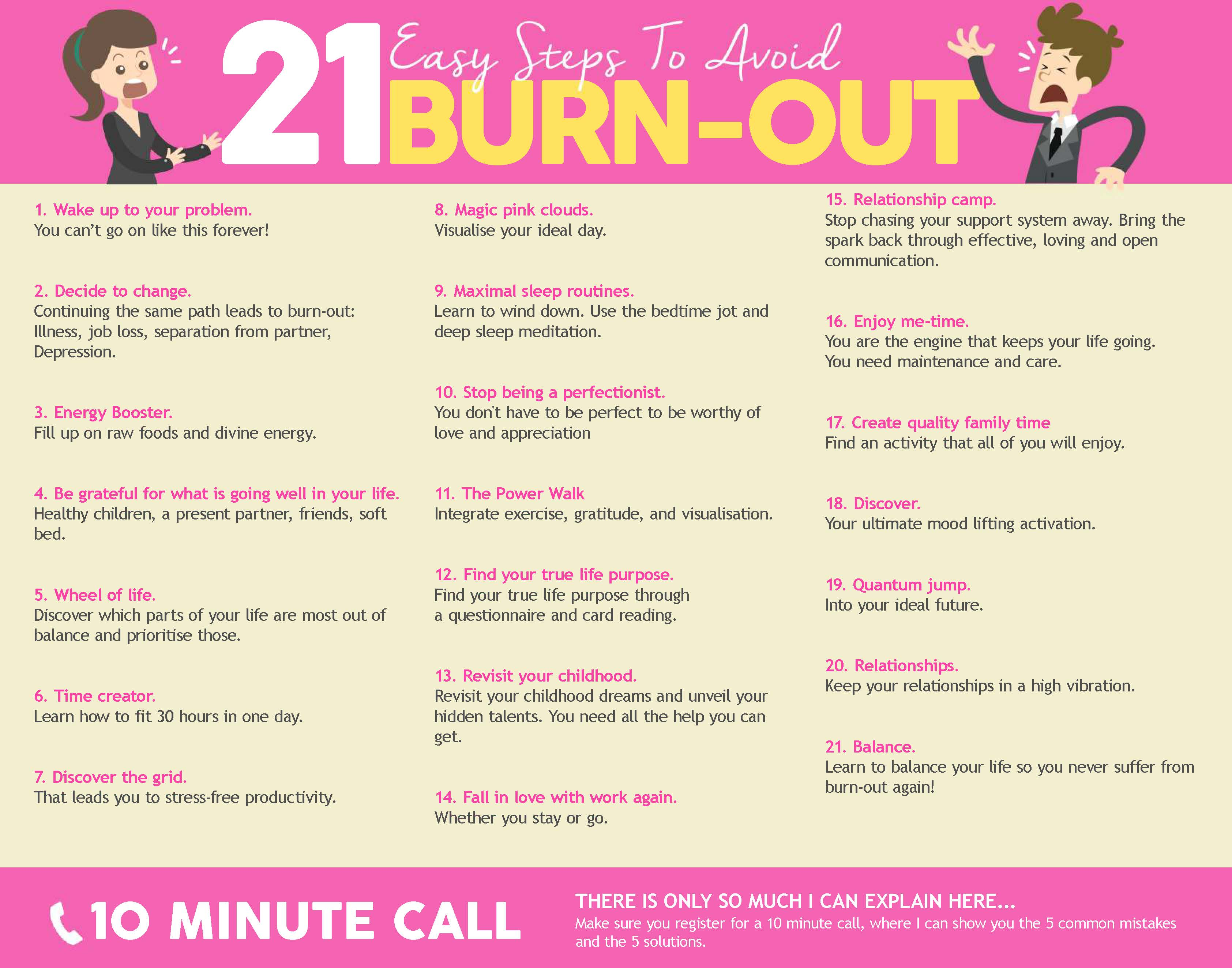 21 Easy Steps To Avoid Burn-out